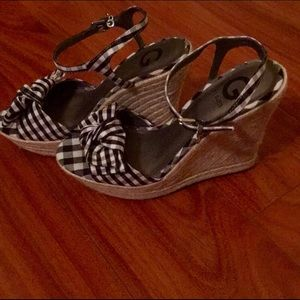 G by Guess Gingham Wedge